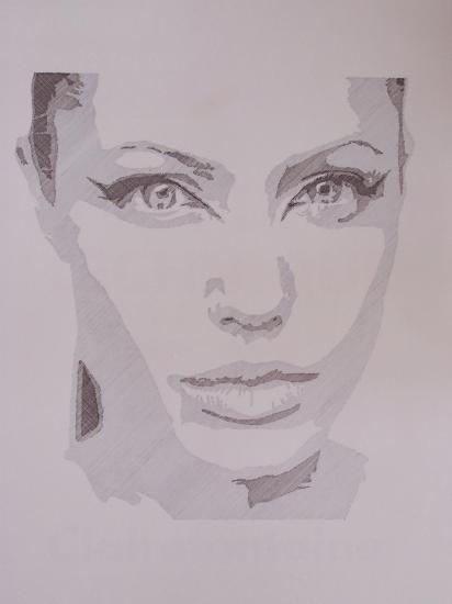 Angelina Jolie por Bernard